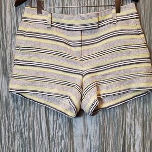 ANN TAYLOR LOFT  Multi-Striped Textured Shorts wit